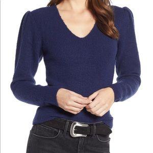 🌟Something Navy NWOT Puff Sleeve Sweater